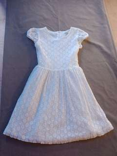 Dress white-laced for age 5-6 years old