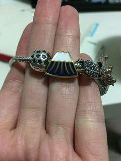 Snow Mountain pandora charm bead