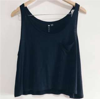 $3 CO TOP - Basic Cropped pocket tank