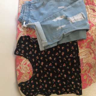 F21 crop top and pants