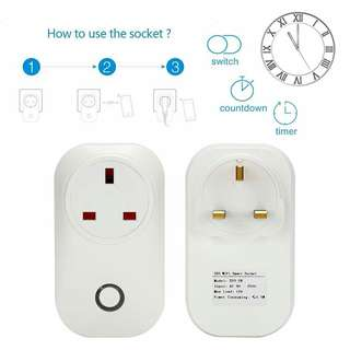 🚚 In Stock Brand New WIFI Wireless Remote Control Smart Home Power Socket Plug UK Crypto Mining Rig