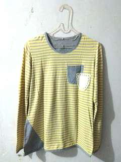 Preloved Yellow-Stripped Shirt