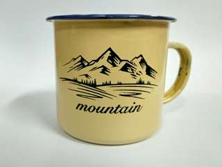 Gelas enamel mountain