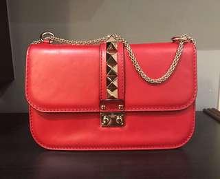 Valentino Rockstuds red handbag 紅色手袋 (99% new)