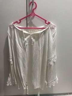 Off sholuder white blouse