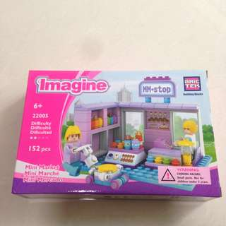 Brictek Imagine Mini Market Building Kit