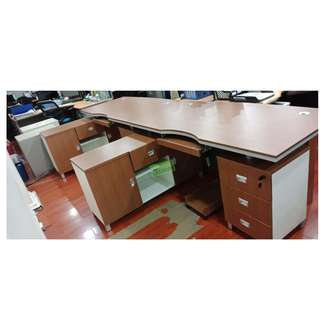 ET-OFT SERIES L-TYPE EXECUTIVE TABLE 160x80x76cm--KHOMI