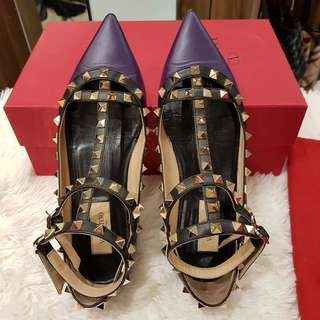 Valentino Rockstudded Flat Shoes S 36 1/2