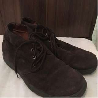 Aldo Dress Formal Brown Suede Mens Shoes Size 9US Pre-loved Authentic