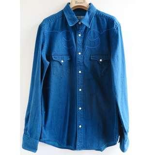【不議價】Toga Virilis Archive blue cotton denim crowboy shirt