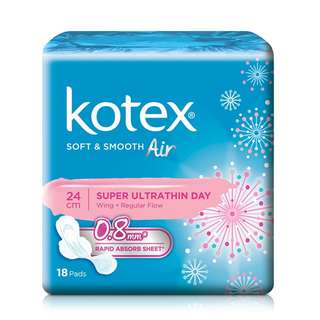 🚚 **Kotex** soft and smooth ultra thin wing 23cm 18pcs
