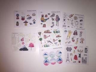 Assorted Sticker Sheets (Paper Kumaco and ItsPaperCo