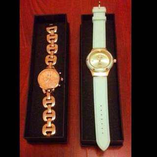 Rose Gold & Mint Watches (New)