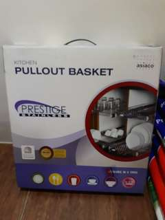 Pullout dish rack basket