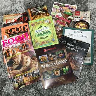 Take all for Php600!!! Cookbooks