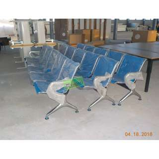 5 SEATER CHROME GANG CHAIRS COLOR BLUE--KHOMI