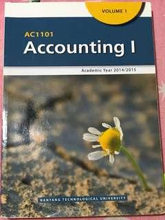 AC1101 Accounting I (NTU AY14/15)