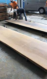 Solid timber slab