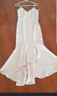Forever new blush pink size 8 dress fishtail formal