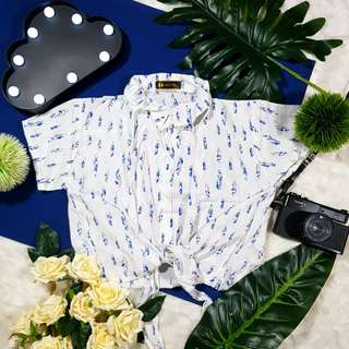 Tie Button Down - Feather