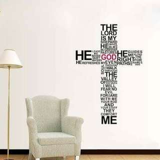 Quote Cross Wall Decal Sticker