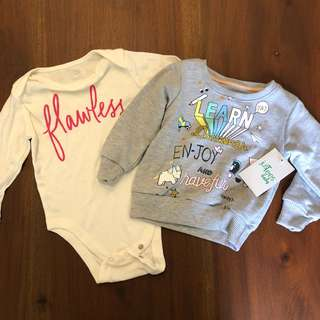 6 months Old Navy Baby & Just Tees Sweatshirt