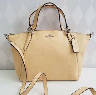 Coach Small Kelsey Vanilla (Soft Yellow)