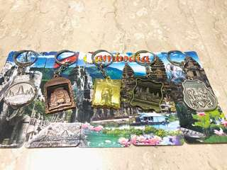 Keychains from Cambodia *Free normal mail