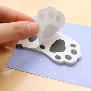 🚚 3 SETs CUTE Cat's Paw Sticky Notes Bookmark Memo Pad (BLACK AND WHITE)
