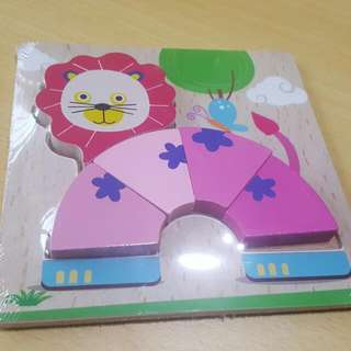 Kids Lion Wooden Puzzle  Brand New In Packaging