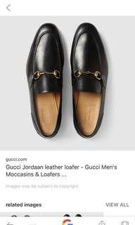 Gucci shoes size.6 black men
