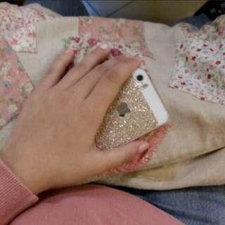 IPhone 5s gold glitter CASE