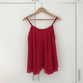 Red Flowy Top