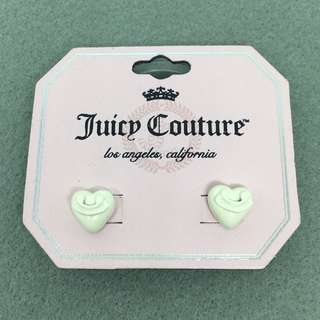 Juicy Couture Sample Earrings 白色立體心心耳環
