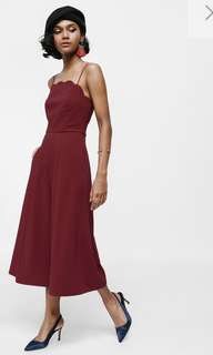 BNWT Jarano Scalloped Neck Flared Midi Jumpsuit (S)