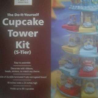 5 tier cupcake tower