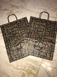 Hard rock cafe paperbag