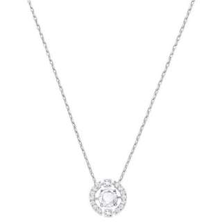 RRP $149! 100% Genuine Swarovski Sparkling Dance Round Necklace White Rhodium Plating BNIB