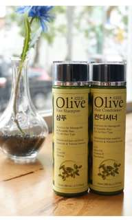Olive shampo + conditioner korea