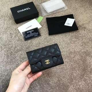 Chanel Wallet 小錢包 小香 魚子醬 牛皮 菱格 卡包 零錢包