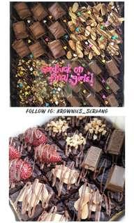 Brownies Nutella serdang (raya open house)