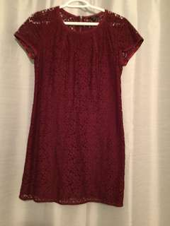 Red lace aritzia dress