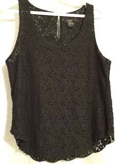Black lace tank from aritzia