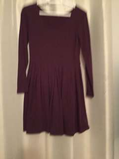 Purple jersey dress from aritzia