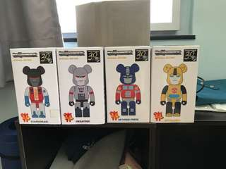 200% Be@rbrick Transformers set of 4