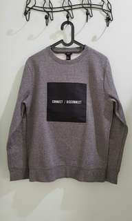 Sweater H&M 'Connect/Disconnect'