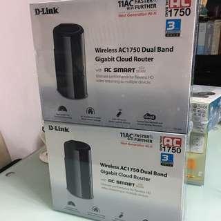 全新 3 年行貨保養 有單D-Link AC1750 雙頻Gigabit無線路由器 Router