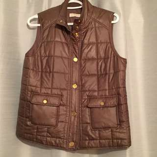 Light brown/green puffer vest Tory burch