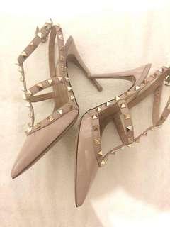 Valentino rockstud patent heels