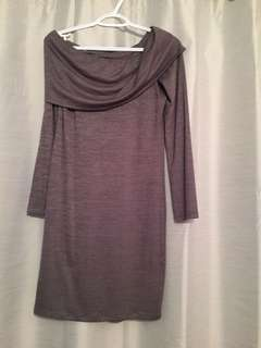 Hunter green off shoulder aritzia dress